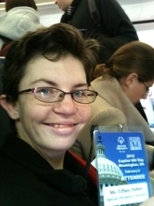 Tiffany Hebert on plane to DC