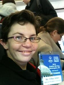 Tiffany Hebert on plane to DC