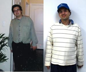 Brian Stern before and after weight loss
