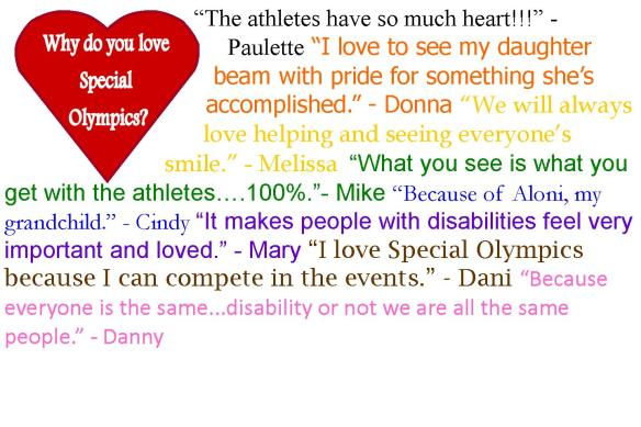 Why do you love Special Olympics