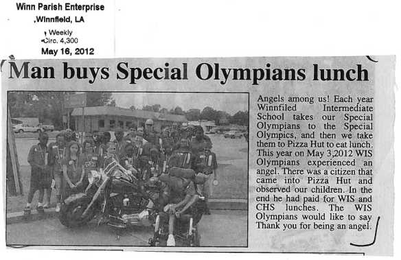 Winn Parish Enterprise article 5-16-12