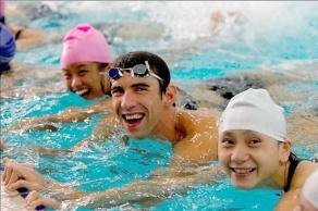 Michael Phelps and Special Olympics athletes