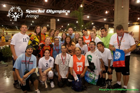 May-Trainer with Special Olympics Arizona volleyball athletes