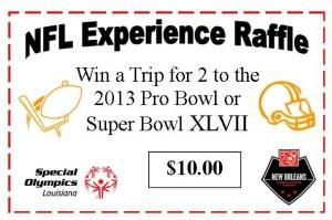 NFL Experience Raffle Ticket