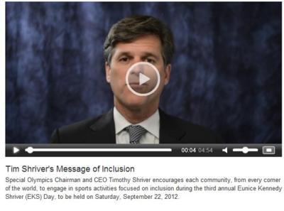 Tim Shriver talks about 2012 EKS Day