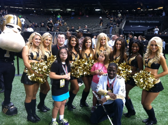 SOLA athletes at Saints Game 9-22-13