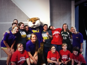 LSU Volleyball with SOLA Athletes