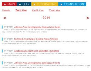 2014 SOLA Calendar of events
