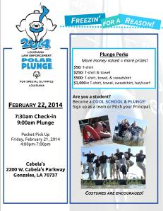 Final Polar Plunge 2014 Baton Rouge Flier Eventbrite