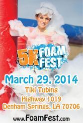 5K Foam Fest 2014 Flyer