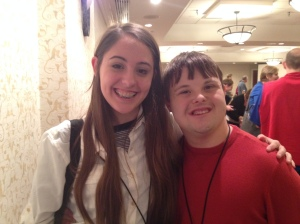 Anna Leach and Sean Adams pose for a picture while in Washington DC