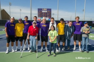 SOLA Athletes with LSU Tennis Team