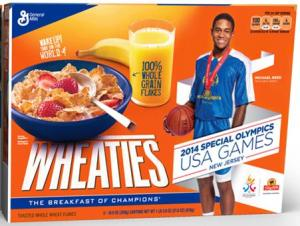 2014 USA Games Wheaties box