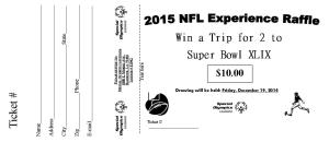 Raffle ticket 2015 Super Bowl