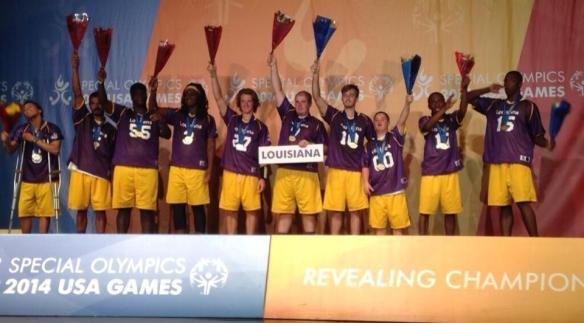 Flag Football winning gold