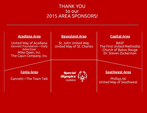 2015 Area Sponsorship Facebook Recognition