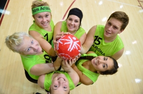 Volleyball Team With Play Unified Ball
