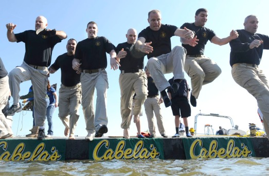 Polar Plunge officers take the jump.jpg
